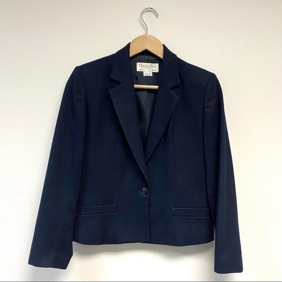 Christian Dior || Vintage Blazer Jacket Navy 6P